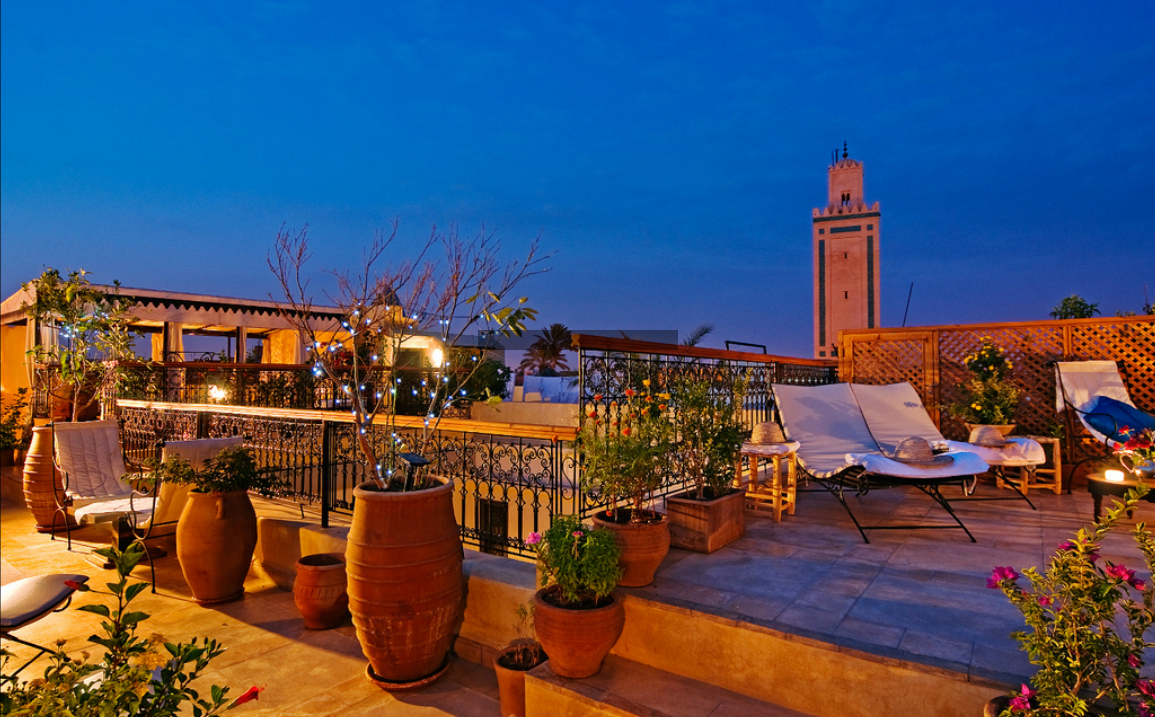Rooftop view from riad in Marrakech