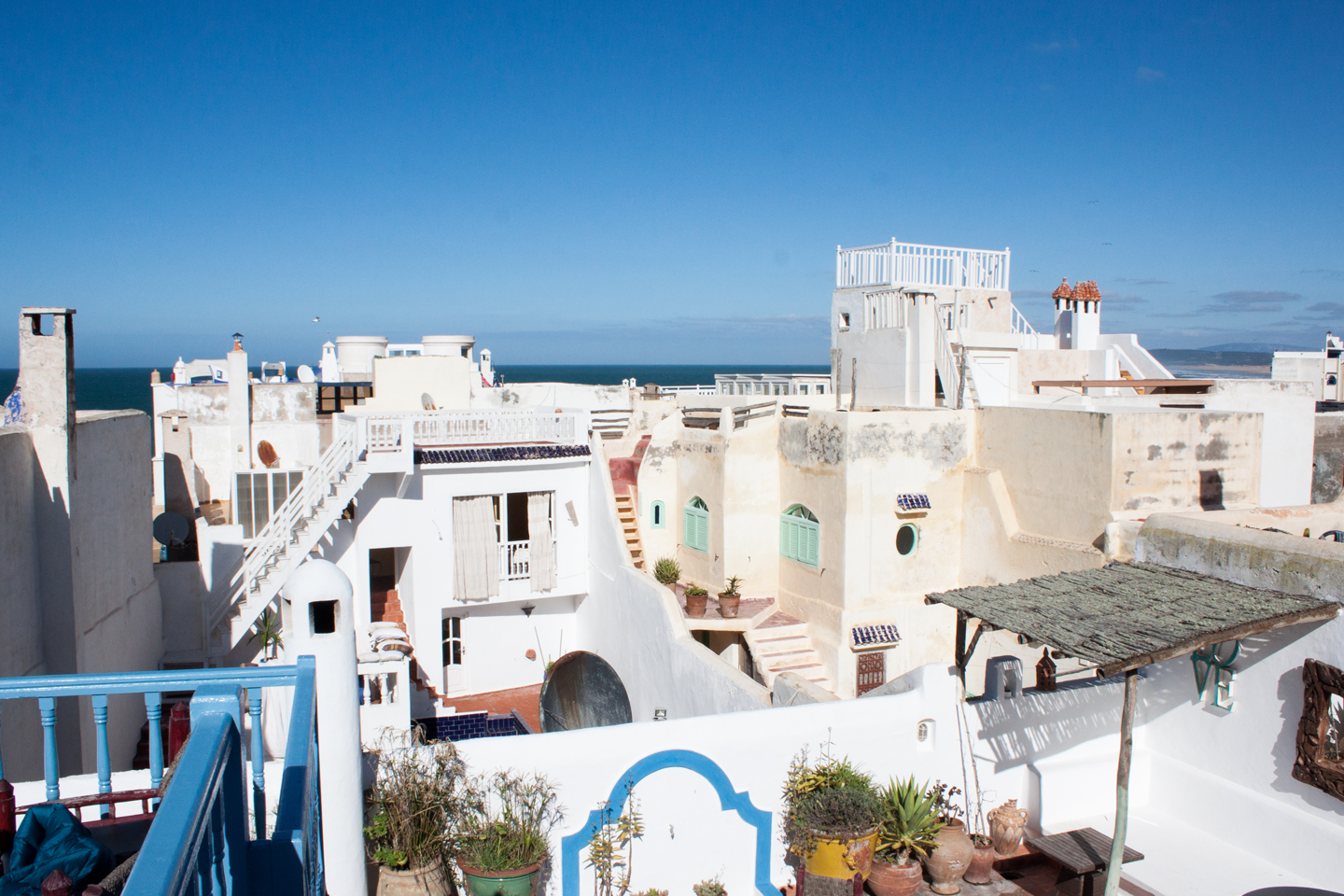 Rooftop view in Essaouira