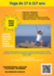 Flyer Yoga' coeur joie yoga Hennebont Lorient Morbihan Bretagne senior cours stages formations communication relationnelle
