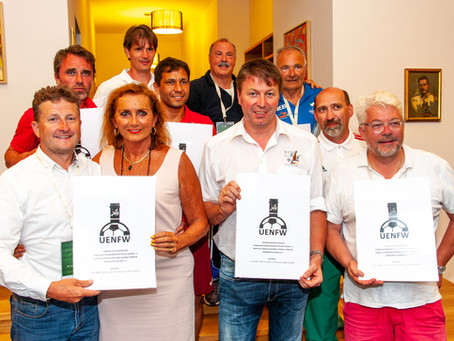 WINEGROWERS FROM EIGHT NATIONS ESTABLISH A EUROPEAN WINE AND FOOTBALL ASSOCIATION (UENFW) BASED AT H