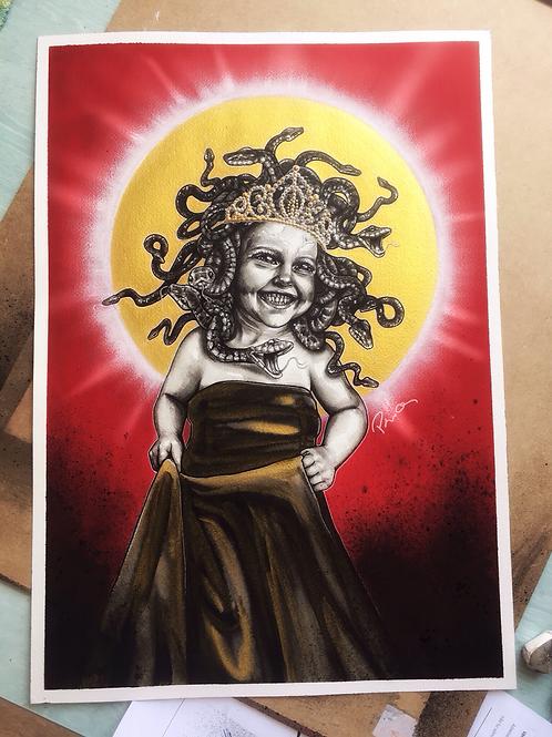 Baby Medusa gets crowned