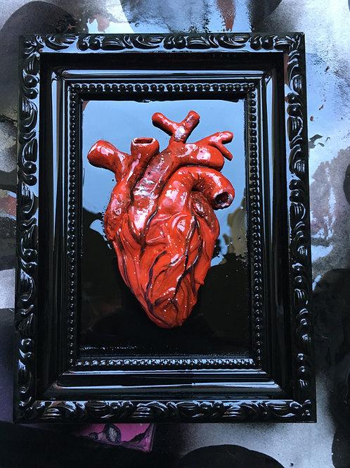 Sculpture Heart On Frame