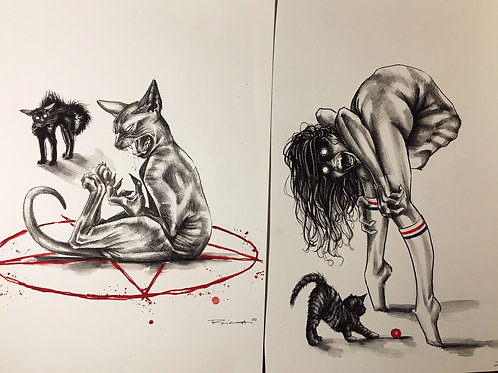 Satanic pussy sketches
