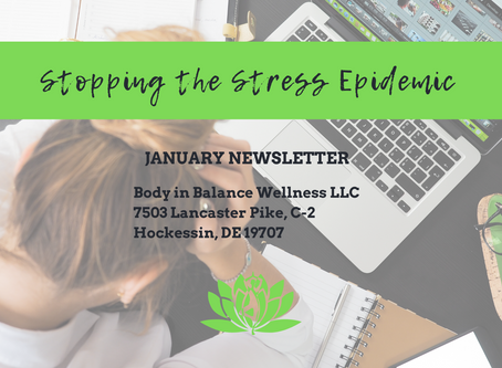 January Newsletter - Stopping the Stress Epidemic