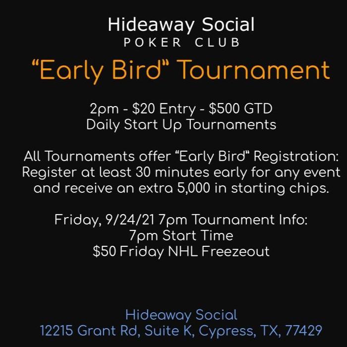 Early Bird Tournament