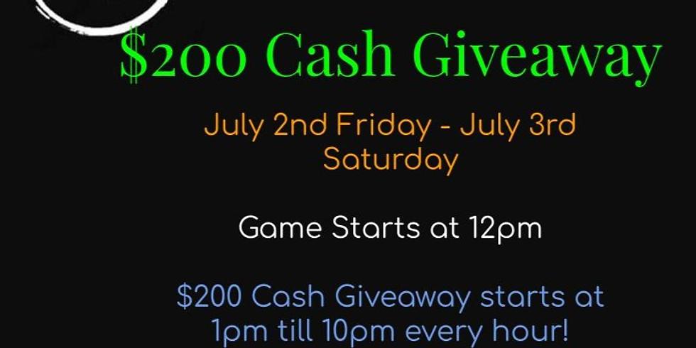 $200 Cash Giveaway