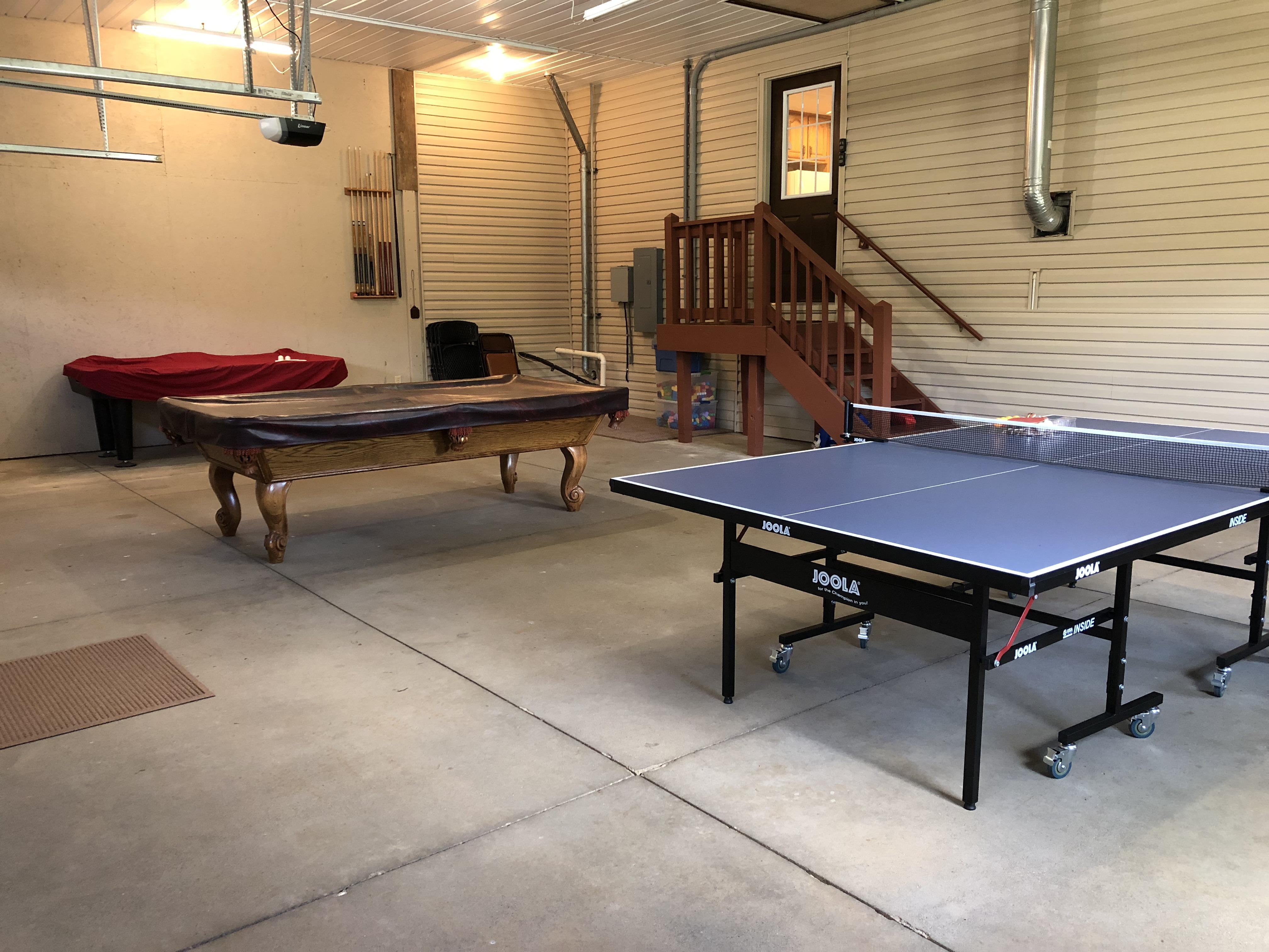 Rec room in garage