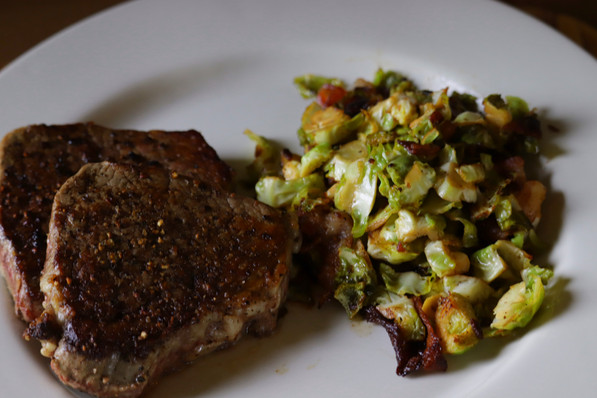 Steak and brussel sprouts