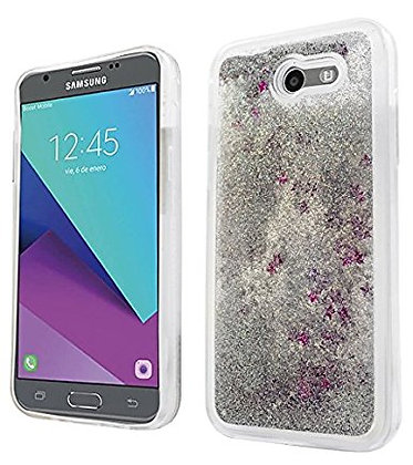 Galaxy J3 Emerge Waterfall Case Silver