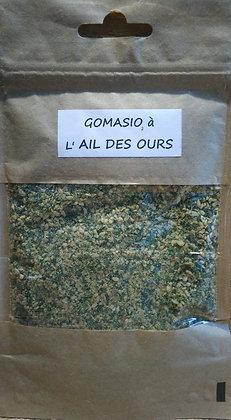 Gomasio à l' Ail des ours bio (allium ursinum) condiment à l'ail des ours à saupoudrer sur l'assiette salade viande poisson