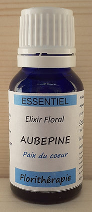 elixir floral aubépine bio fleurs de bach renaissance florithérapie production artisanale haute qualité vibratoire