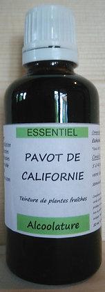 Alcoolature Pavot de californie (Eschscholtzia californica) biologique Extrait hydroalcoolique Teinture mère Sommeil Dormir