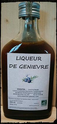 liqueur artisanale genièvre baies genévrier biologique