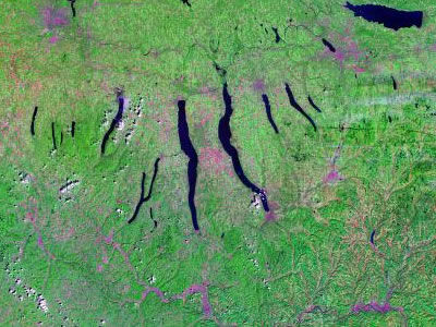 NY Finager Lakes Region from space