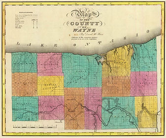 Wayne County NY Map (1829)