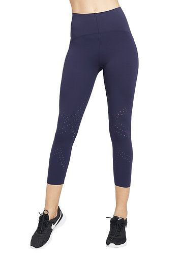 花孔3/4淨色褲-海軍藍色