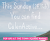 This Sunday (25/Feb), You can find CalenActive...