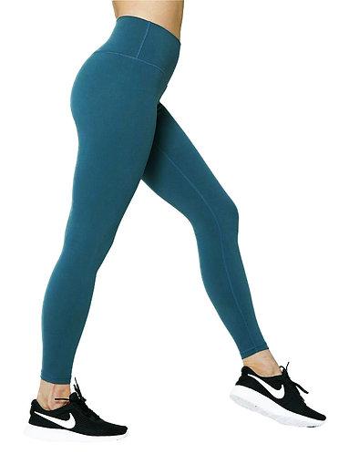 基本款修身褲-藍綠色