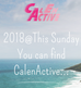 2018@This Sunday, You can find CalenActive...