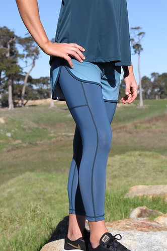 2in1 running teal ombre short with tight