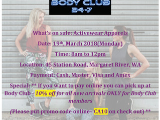 Pops up @ Body Club Fitness Centre