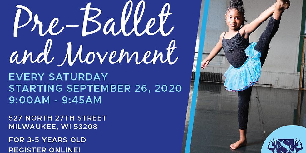 PreBallet and Movement Saturdays 9/26/2020-11/14/2020