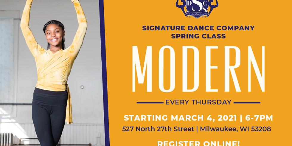 Modern Dance Class - Thursdays