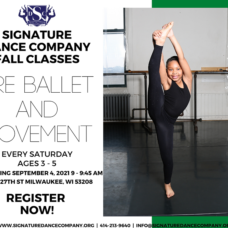 Saturday 3-5 year old Pre-Ballet Class
