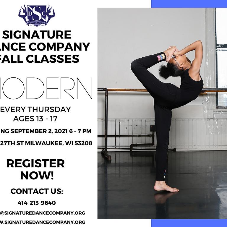 Thursday Beginner Modern 13-17 years old