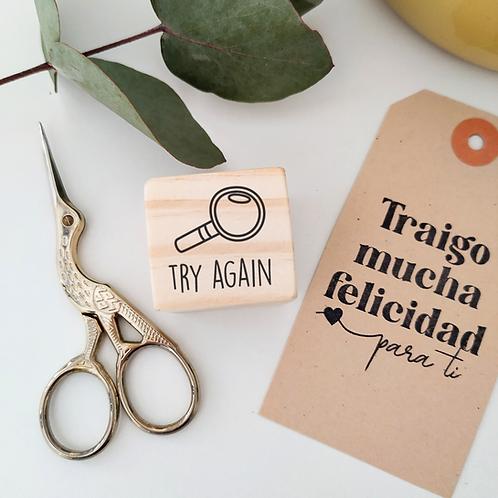 Sello Notas: Try Again 3 cm