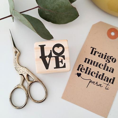 Sello LOVE logo 3 cm