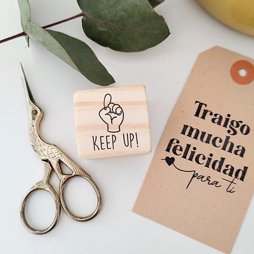 Sello Notas: Keep up! 3 cm