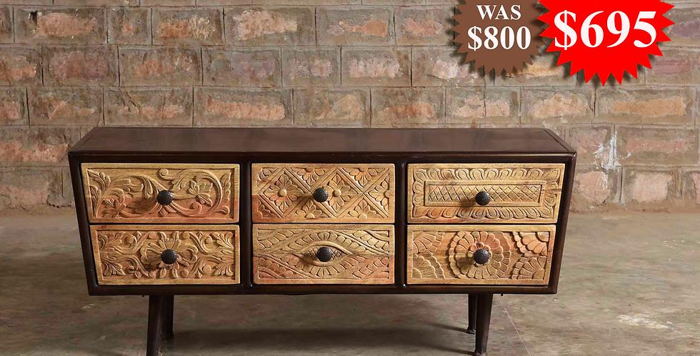 Wood Iron Cabinet