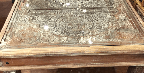 Dining Table with Glass