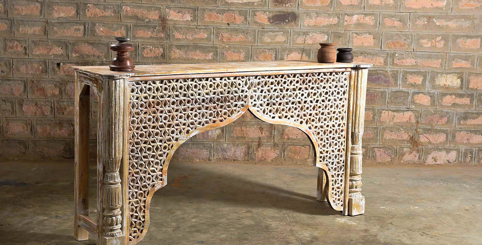 Wood Carving Console Table