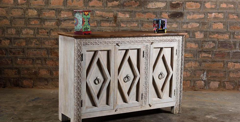 Wood 3 Door Cabinet