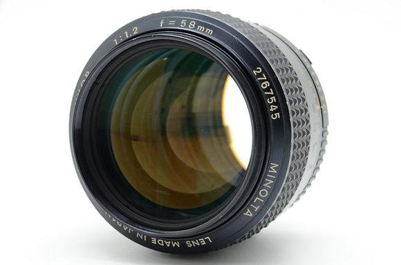 MINOLTA  MCロッコール 58mm F1.2 ID 2b0740668