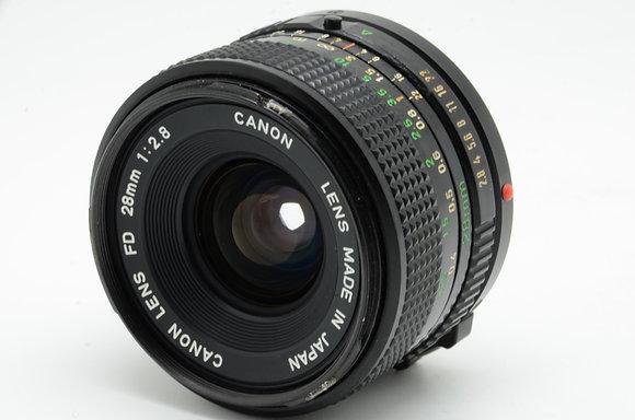 CANON NFD 28mm F2.8   ID 2b0739086