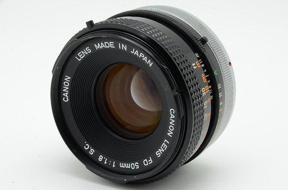 CANON FD 50mm F1.8   ID 2b0736643