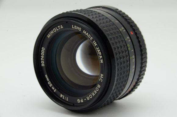MINOLTA MCロッコール 50mm F1.4 ID 2b0742199