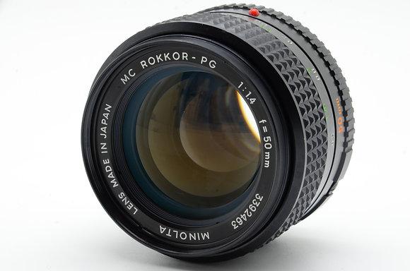MINOLTA  MCロッコール 50mm F1.4 ID 2b0740711