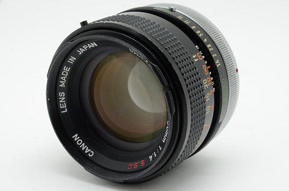 CANON FD 50mm F1.4 S.S.C   ID 2b0737575