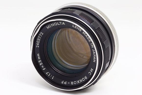 MINOLTA MCロッコール 55mm F1.7   ID 2b0737570