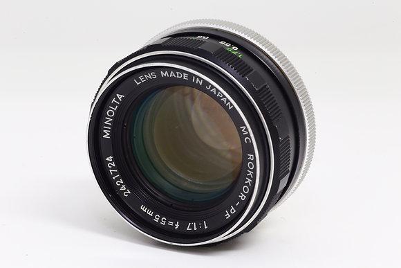 MINOLTA MCロッコール 55mm F1.7   ID 2b0737563
