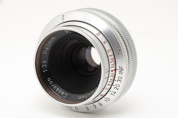 Cassaron 40mm F3.5   ID 2b0705084