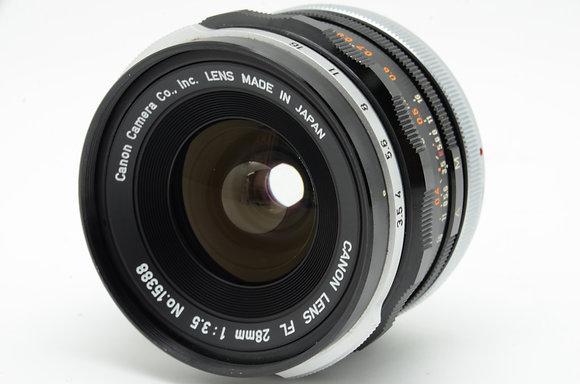 CANON FL 28mm F3.5   ID 2b0738010