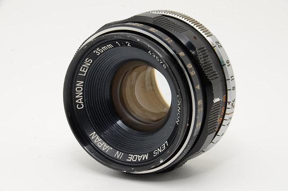 CANON 35mm F2   ID 2b0734028