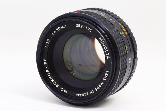 MINOLTA MCロッコール 50mm F1.7   ID 2b0731134