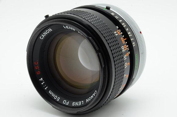 CANON FD 50mm F1.4 S.S.C   ID 2b0738012