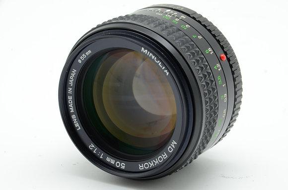 MINOLTA  MDロッコール 50mm F1.2 ID 2b0740442